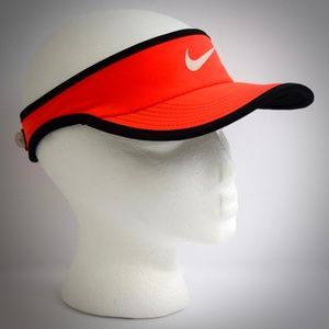 Nike Featherlight DriFit Visor Neon Orange Black